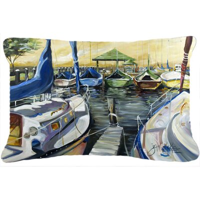 Seven Boats Sailboats Indoor/Outdoor Throw Pillow