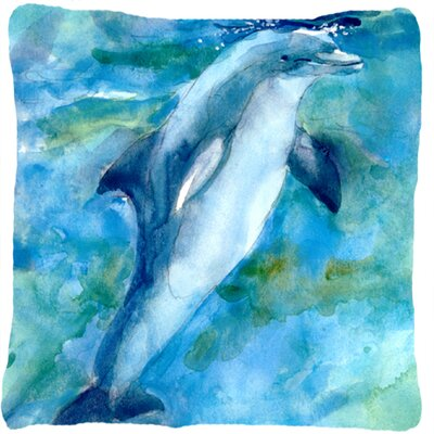 Dolphin Blue Indoor/Outdoor Throw Pillow