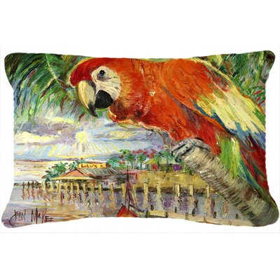 Red Parrot at Lulus Indoor/Outdoor Throw Pillow