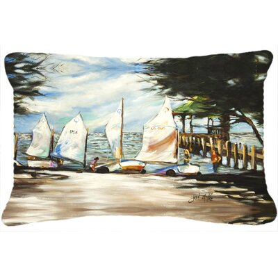 Sailing Lessons Sailboats Indoor/Outdoor Throw Pillow