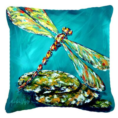 Dragonfly Matin Indoor/Outdoor Throw Pillow Size: 14 H x 14 W x 4 D