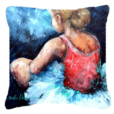 Ballet Star Struck Indoor/Outdoor Throw Pillow Size: 14 H x 14 W x 4 D