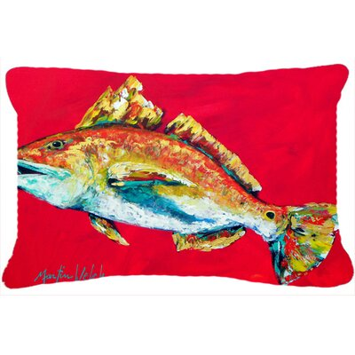 Red Fish Woo Hoo Indoor/Outdoor Throw Pillow
