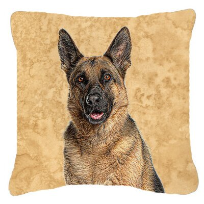 German Shepherd Indoor/Outdoor Throw Pillow Size: 14 H x 14 W x 4 D