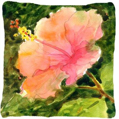 Square Hibiscus Indoor/Outdoor Throw Pillow