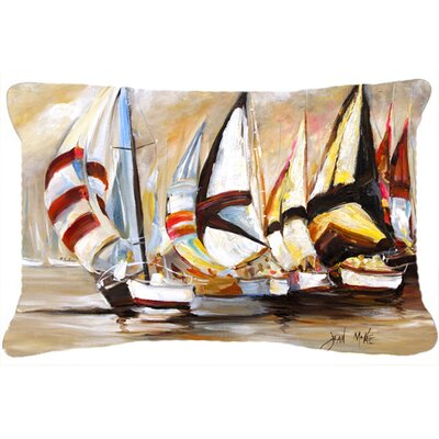 Boat Binge Sailboats Indoor/Outdoor Throw Pillow