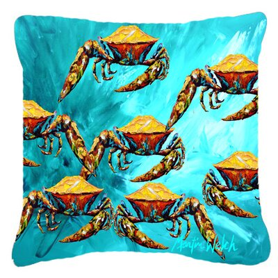 Lotta Crabs Indoor/Outdoor Throw Pillow Size: 14 H x 14 W x 4 D