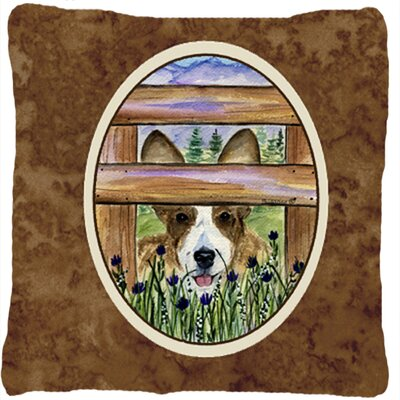 Corgi Indoor/Outdoor Throw Pillow