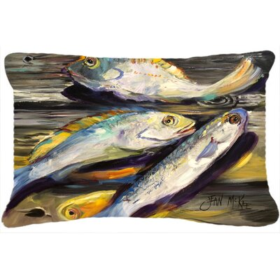Fish on The Dock Indoor/Outdoor Throw Pillow