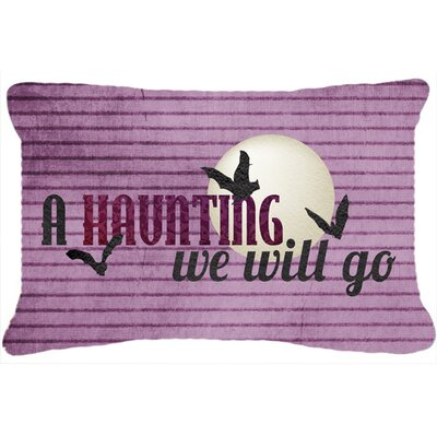 A Haunting We Will Go Halloween Indoor/Outdoor Throw Pillow