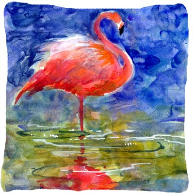 Flamingo Indoor/Outdoor Throw Pillow