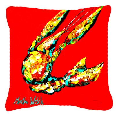 Crawfish Move Over Indoor/Outdoor Throw Pillow Size: 14 H x 14 W x 4 D