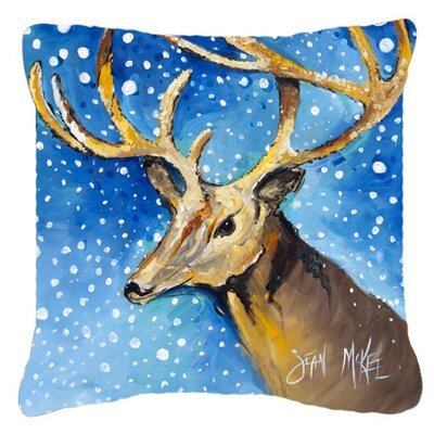 Reindeer Indoor/Outdoor Throw Pillow Size: 18 H x 18 W x 5.5 D