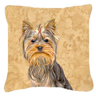 Yorkie Brown Indoor/Outdoor Throw Pillow Size: 18 H x 18 W x 5.5 D