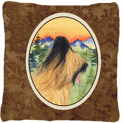 Briard Graphic Print Indoor/Outdoor Throw Pillow