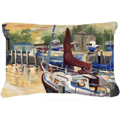 New Sunset Bay Sailboat Indoor/Outdoor Throw Pillow