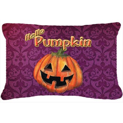 Hello Pumpkin Halloween Indoor/Outdoor Throw Pillow