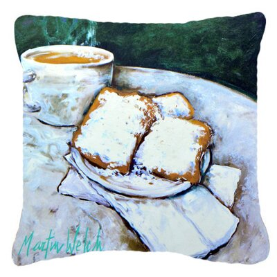 Beingets Breakfast Delight Indoor/Outdoor Throw Pillow Size: 18 H x 18 W x 5.5 D