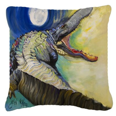 Alligator Square Indoor/Outdoor Throw Pillow Size: 14 H x 14 W x 4 D