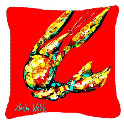 Crawfish Move Over Indoor/Outdoor Throw Pillow Size: 18 H x 18 W x 5.5 D