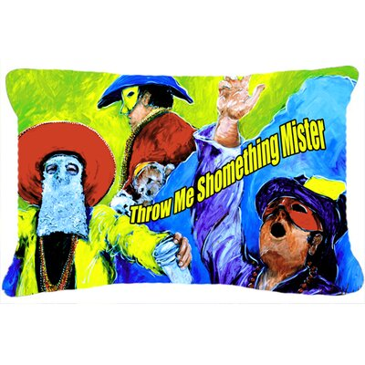 Mardi Gras Throw Me Something Mister Indoor/Outdoor Throw Pillow