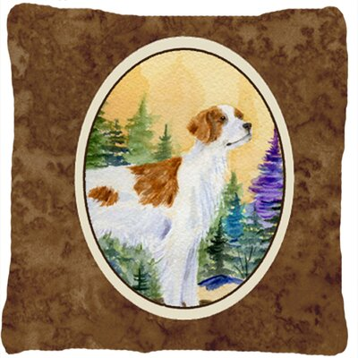 Eva Brown Indoor/Outdoor Throw Pillow