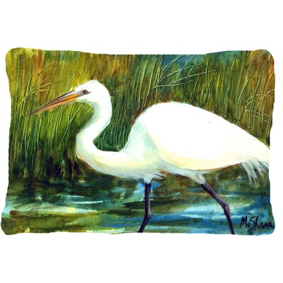 Egret Indoor/Outdoor Throw Pillow