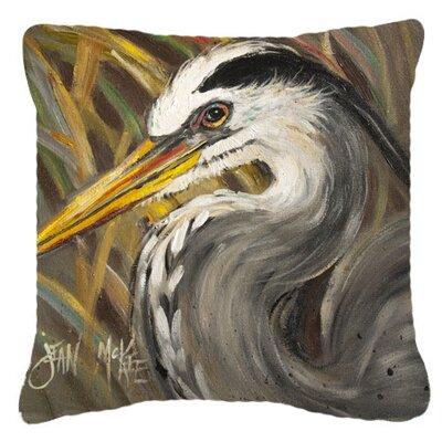 Blue Heron Indoor/Outdoor Throw Pillow Size: 14 H x 14 W x 4 D