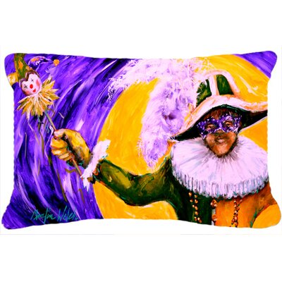 Mardi Gras Hey Mister Indoor/Outdoor Throw Pillow