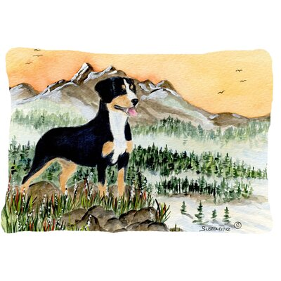 Entlebucher Mountain Dog Rectangular Indoor/Outdoor Throw Pillow
