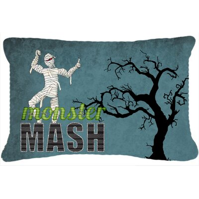 Monster Mash with Mummy Halloween Indoor/Outdoor Throw Pillow