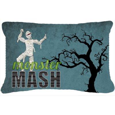 Monster Mash with Mummy Halloween Indoor/Outdoor Throw Pillow