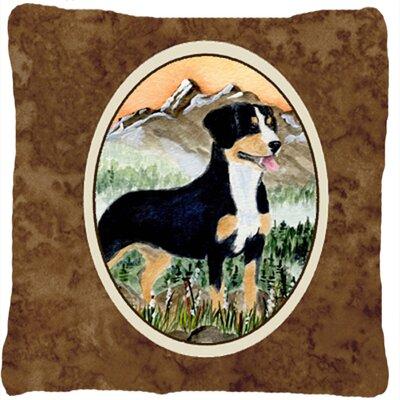Entlebucher Mountain Dog Indoor/Outdoor Throw Pillow