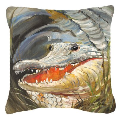 Alligator Graphic Print Indoor/Outdoor Throw Pillow Size: 14 H x 14 W x 4 D