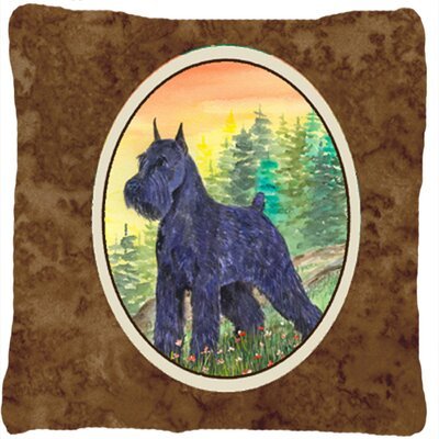Schnauzer Modern Indoor/Outdoor Throw Pillow