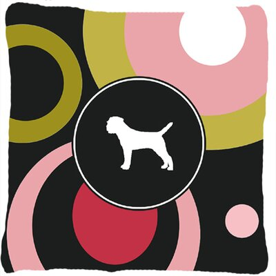Border Terrier Polka Dots Indoor/Outdoor Throw Pillow