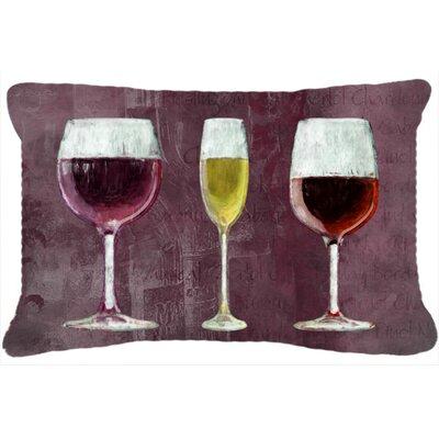 Three Glasses of Wine Indoor/Outdoor Throw Pillow