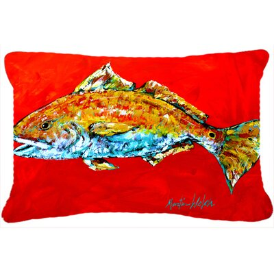 Red Fish Red Head Indoor/Outdoor Throw Pillow