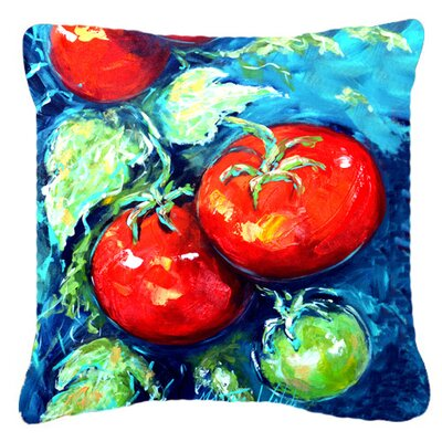 Tomatoes on The Vine Indoor/Outdoor Throw Pillow Size: 14 H x 14 W x 4 D