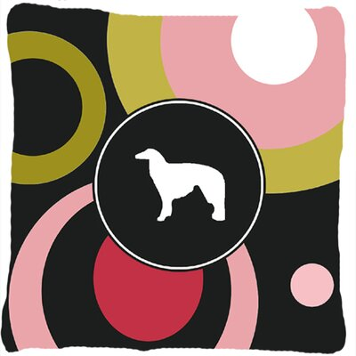 Borzoi Polka Dots Indoor/Outdoor Throw Pillow