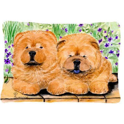 Chow Chow Indoor/Outdoor Rectangular Brown Throw Pillow