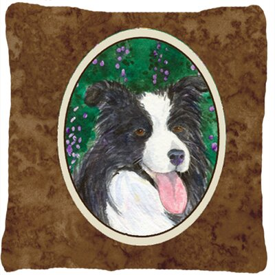 Border Collie Head Indoor/Outdoor Throw Pillow
