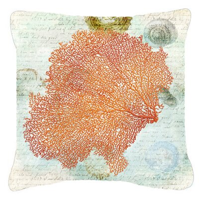 Coral Pink Indoor/Outdoor Throw Pillow Size: 14 H x 14 W x 4 D