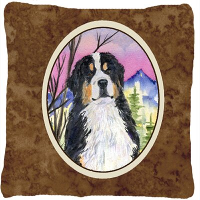 Dog Square Brown Indoor/Outdoor Throw Pillow
