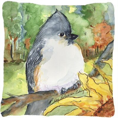 Tufted Titmouse Indoor/Outdoor Throw Pillow