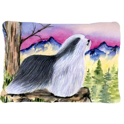 Bearded Collie Indoor/Outdoor Rectangular Throw Pillow