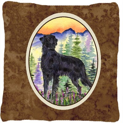 Flat Coated Retriever Indoor/Outdoor Throw Pillow