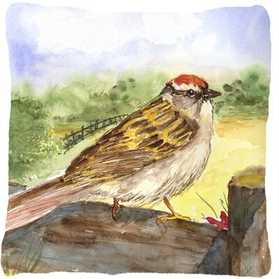 Chipping Sparrow Indoor/Outdoor Throw Pillow