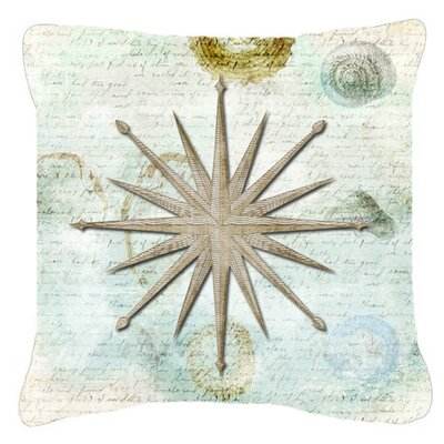 Shells Navigation Star Indoor/Outdoor Throw Pillow Size: 14 H x 14 W x 4 D