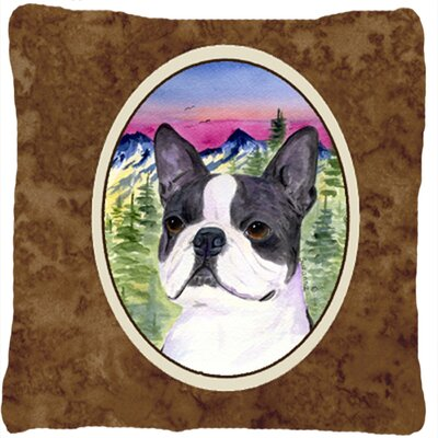 Boston Terrier Modern Indoor/Outdoor Throw Pillow